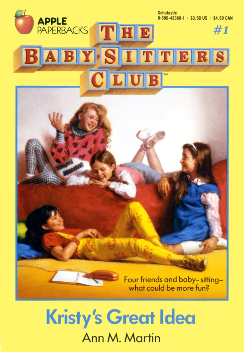 Babysitters Club, popular book series for 80s kids