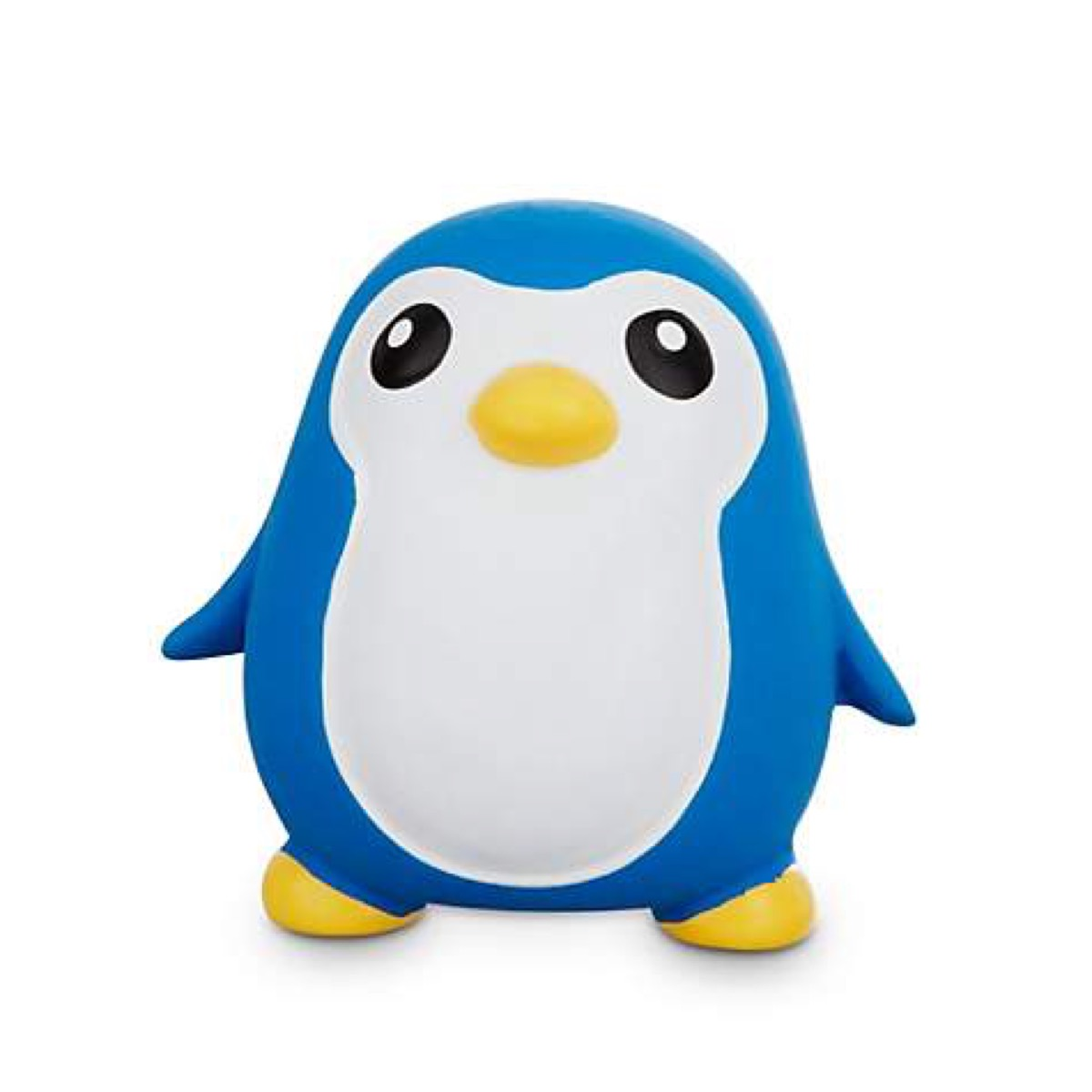 blue and white penguin toy, best chew toys for puppies