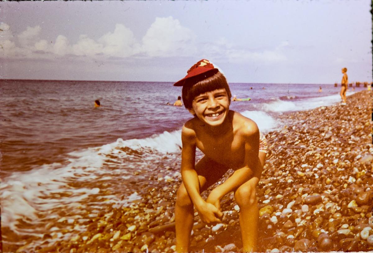 Kid on Beach 1980s
