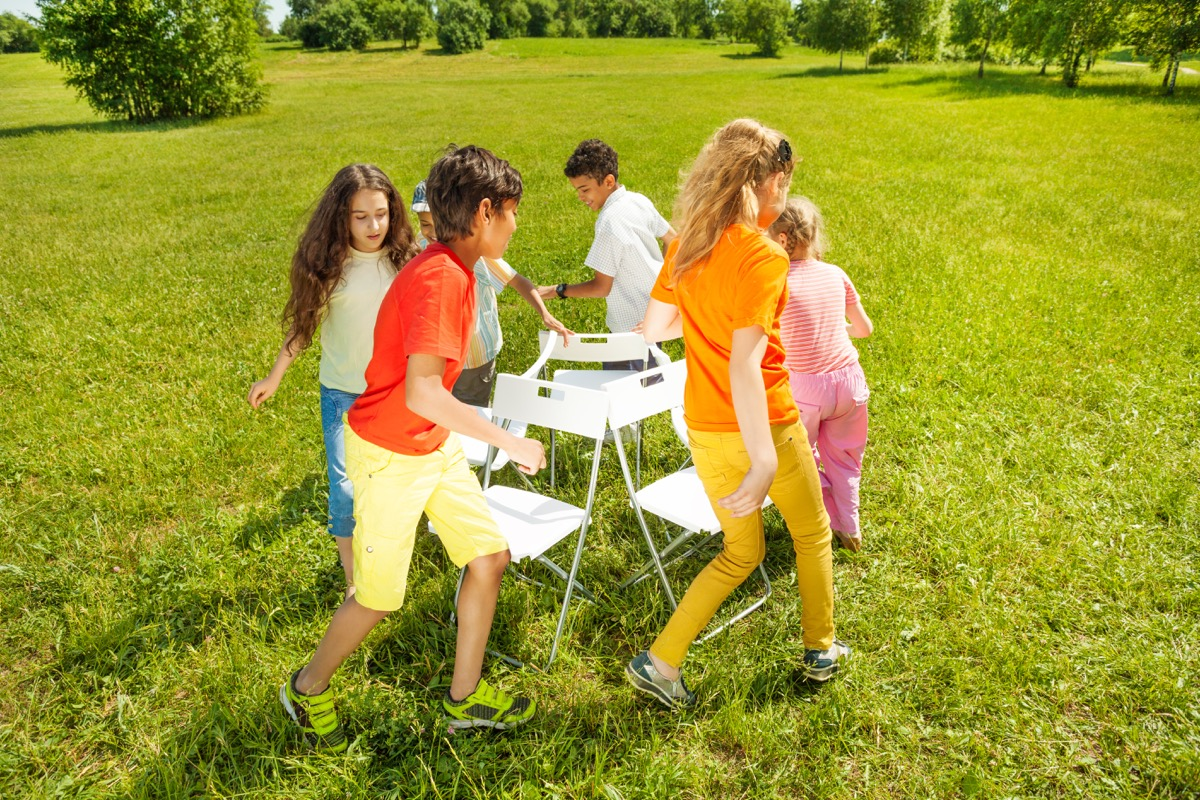 Kids Playing Musical Chairs