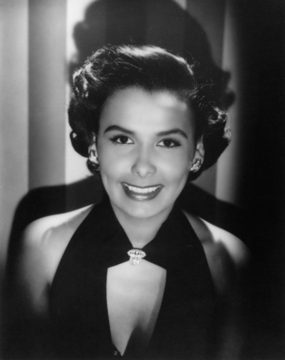 Lena Horne, American actress and film star, 1945.