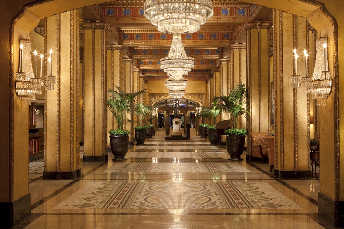 Lobby of Roosevelt Hotel, New Orleans
