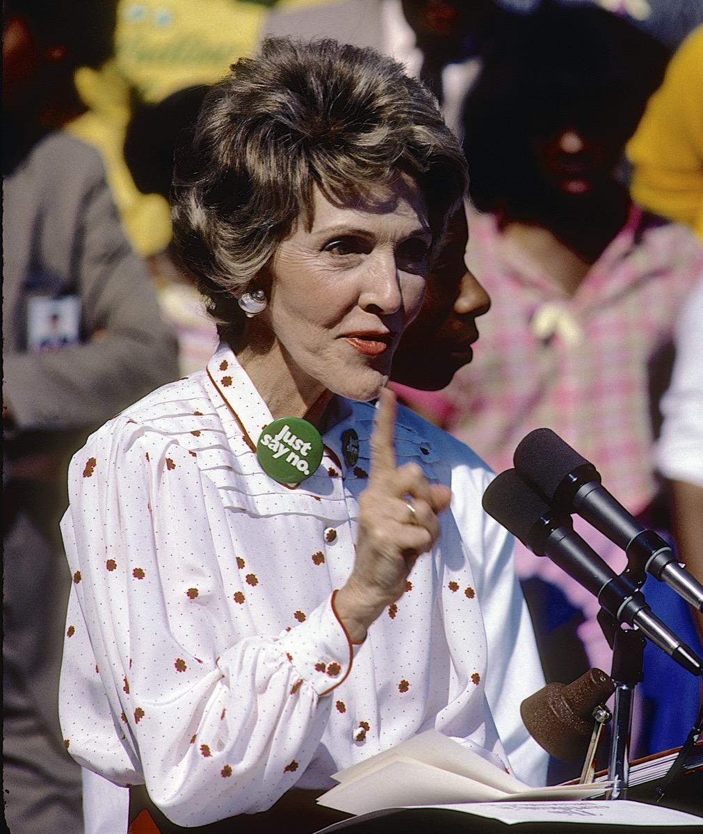 Nancy Reagan, 80s, just say no