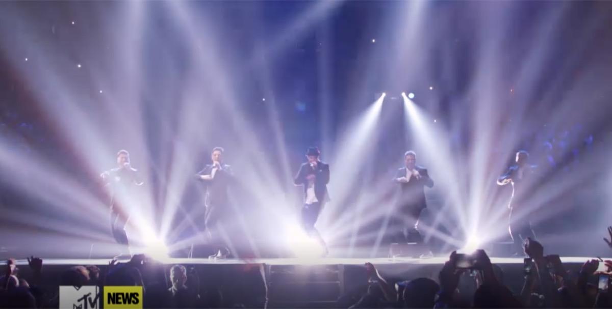 NSYNC Reunion performance ath VMAs