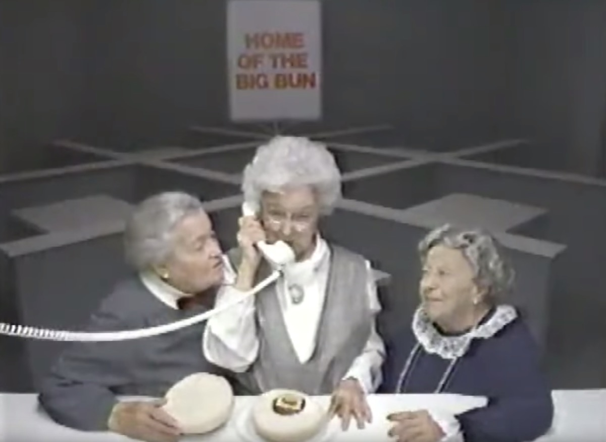 Three old ladies in 1980s Where's the Beef Commercial