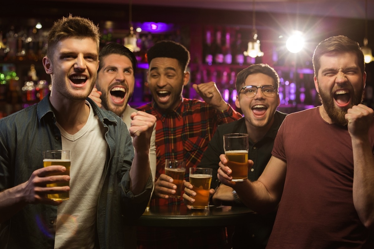 Men at a Bachelor Party Things Men Won't Admit