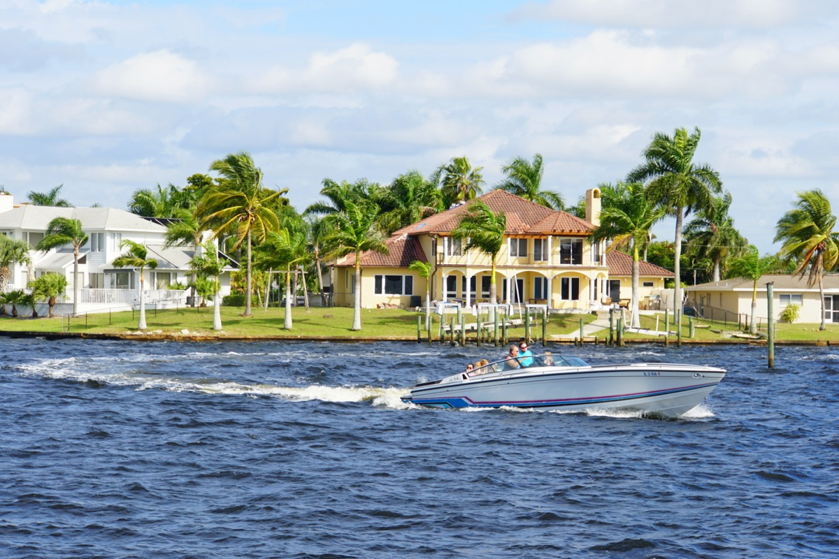 a boat on the water in cape coral florida