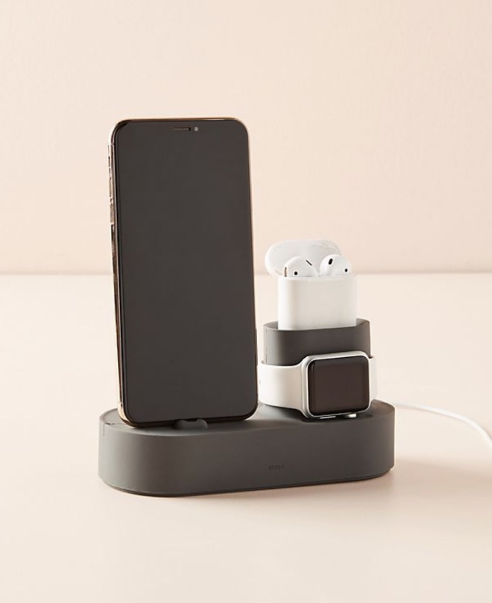 airpods and iphone in charging dock, best gifts for college students