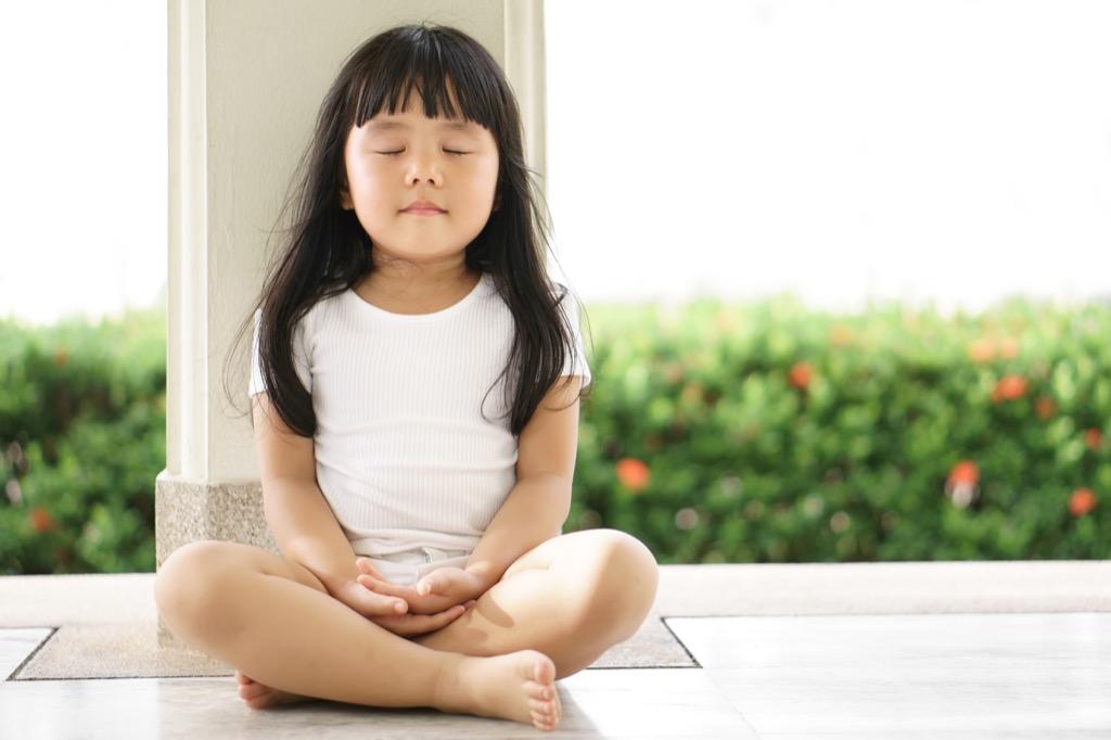 child meditating, middle child