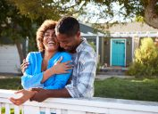 older couple smiling and laughing outside, old fashioned compliments
