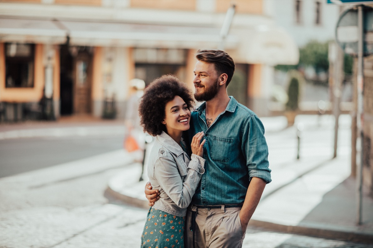 happy couple on date - dating vs. relationship