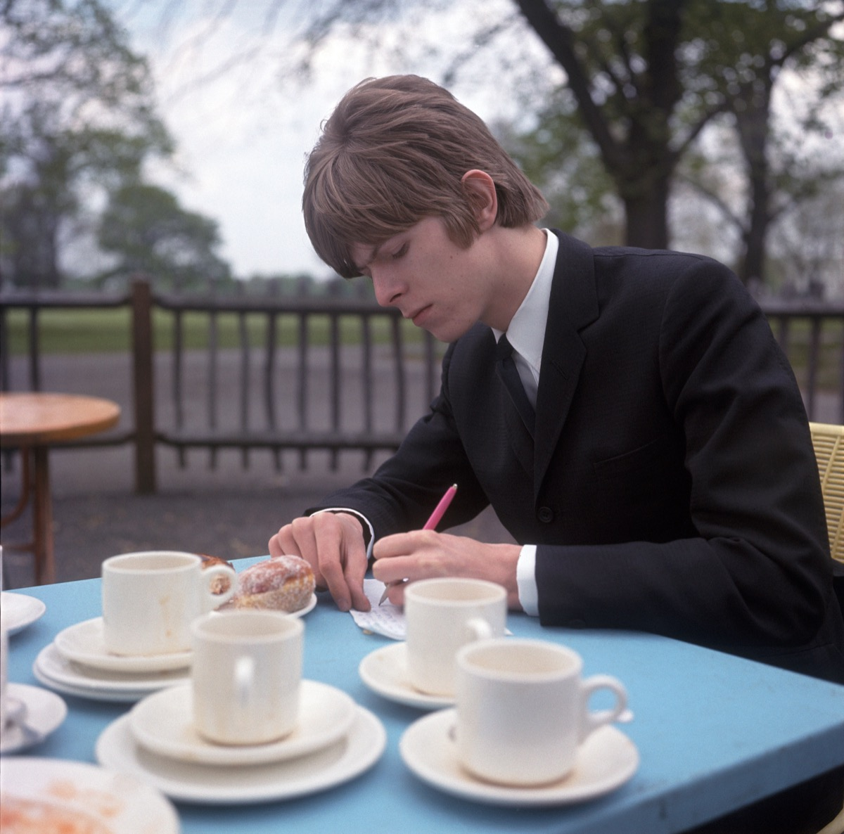 David Bowie writing lyrics in 1966