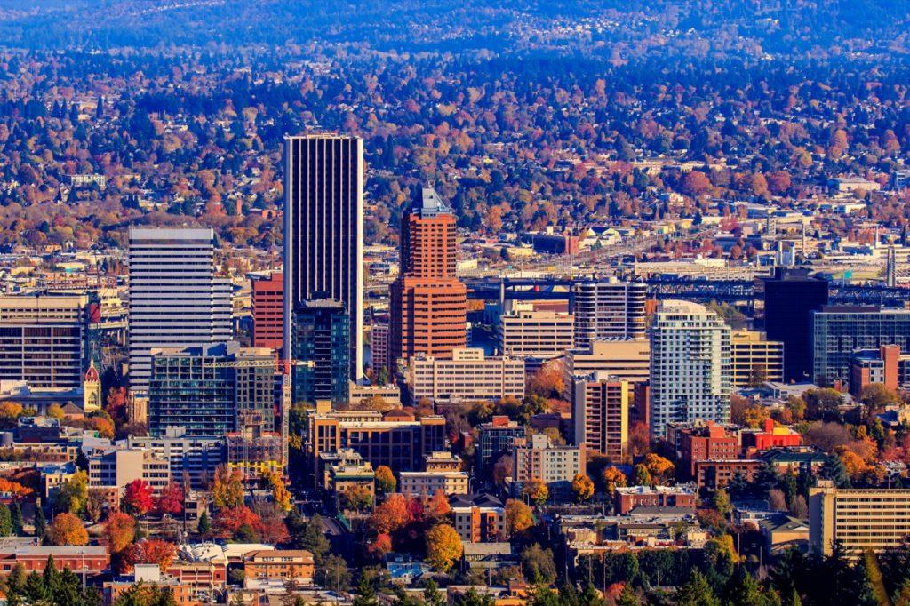 downtown Portland, Oregon