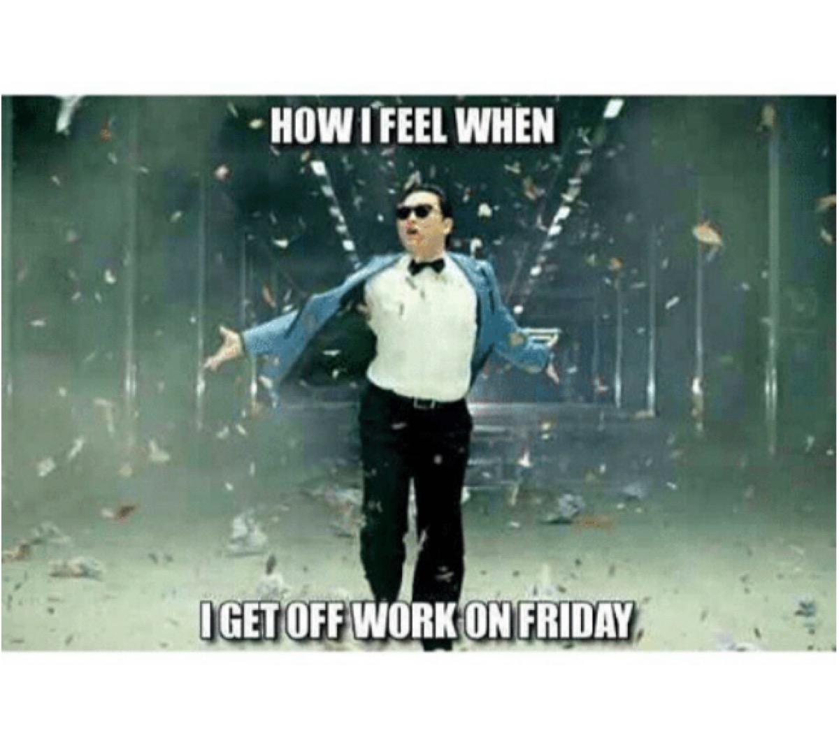 leaving work on friday like work meme
