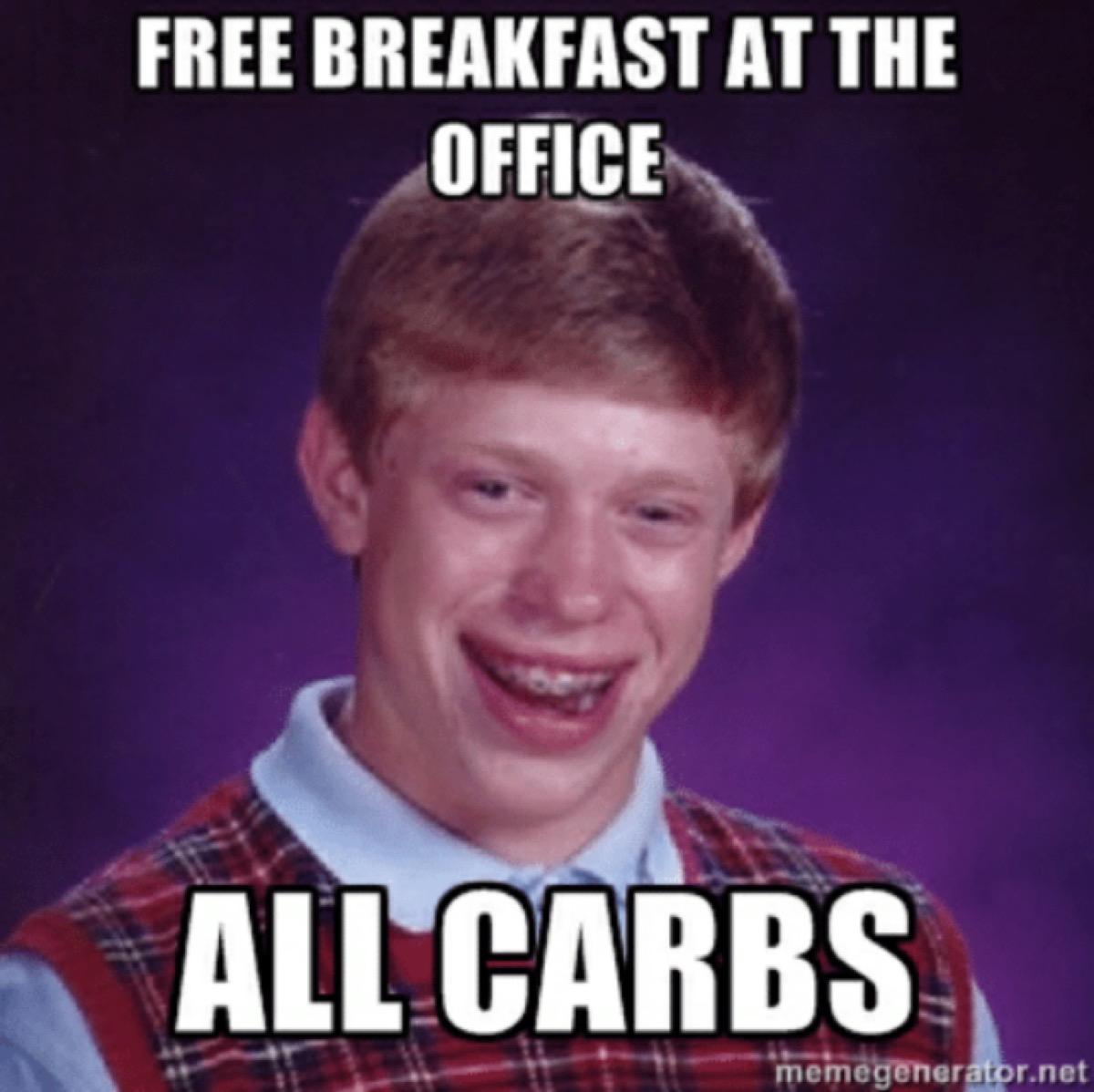 funny work meme office breakfast