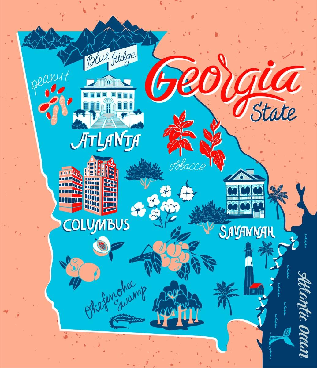 georgia U.S. state 1990s-era news stories