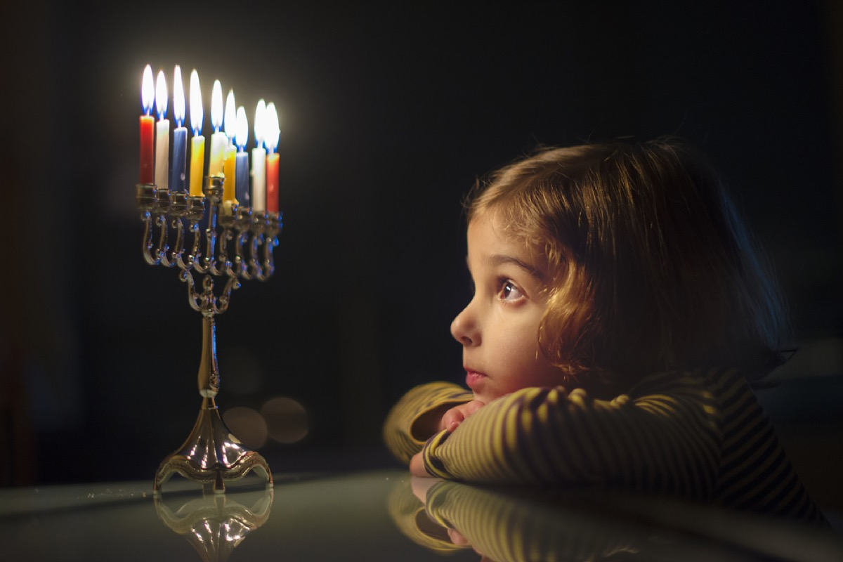 little girl looking at menorah, things that annoy grandparents