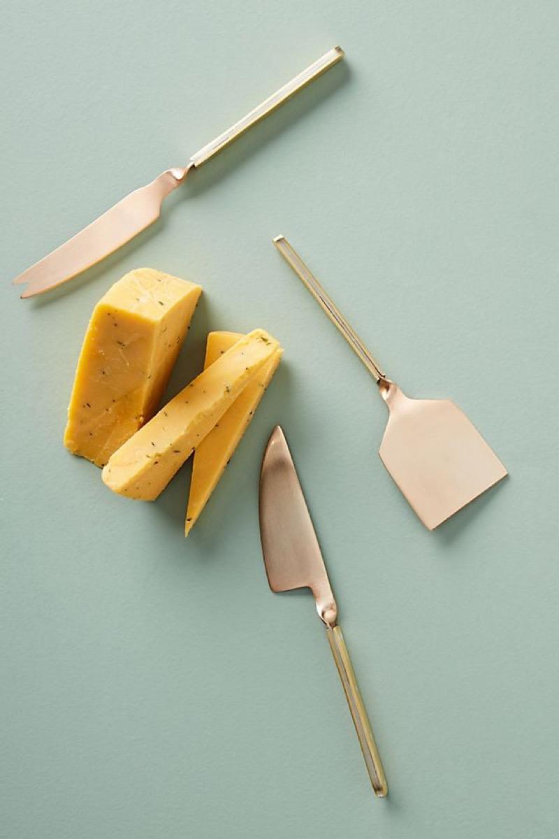 set of three cheese knives