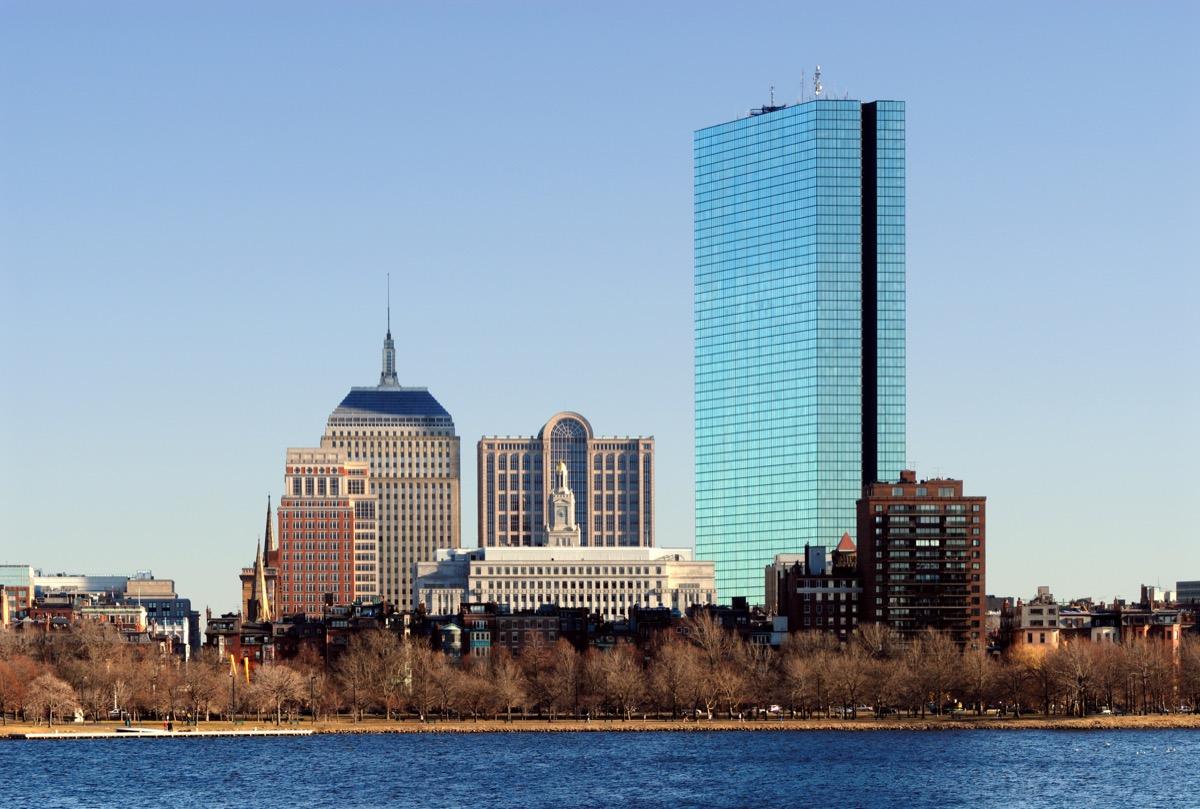 john hancock tower in boston