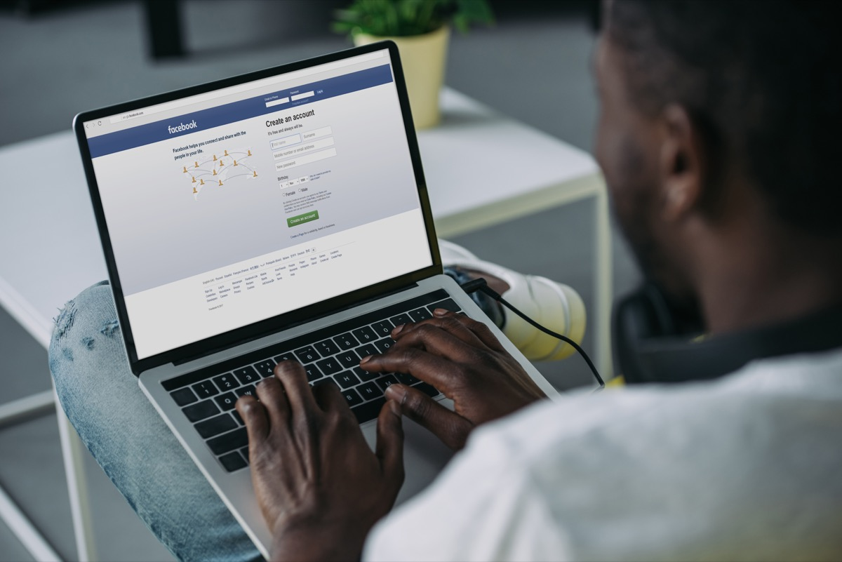 Man Checking Facebook Things He's Not Telling You