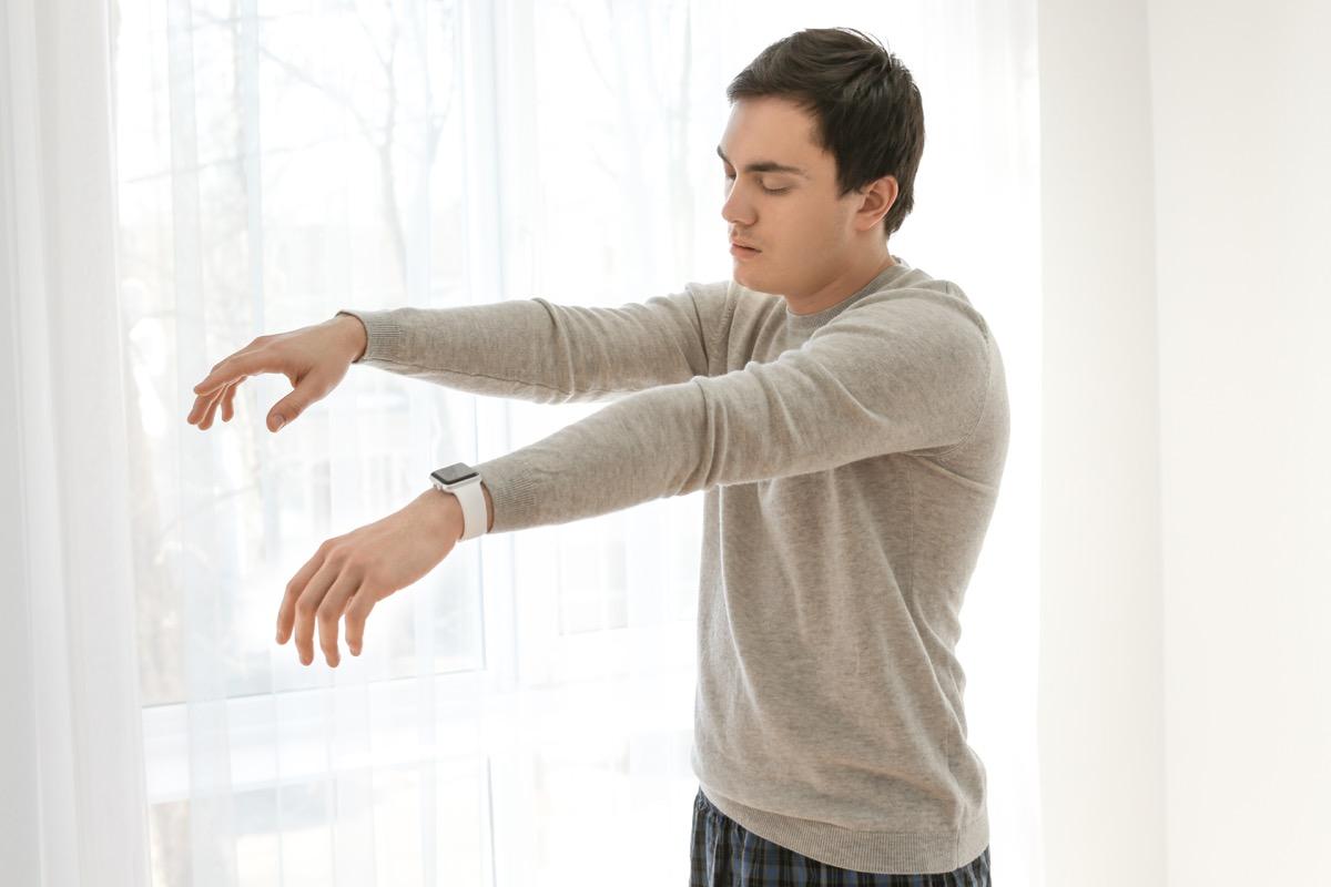 Man Sleepwalking Health Problems From lack of Sleep