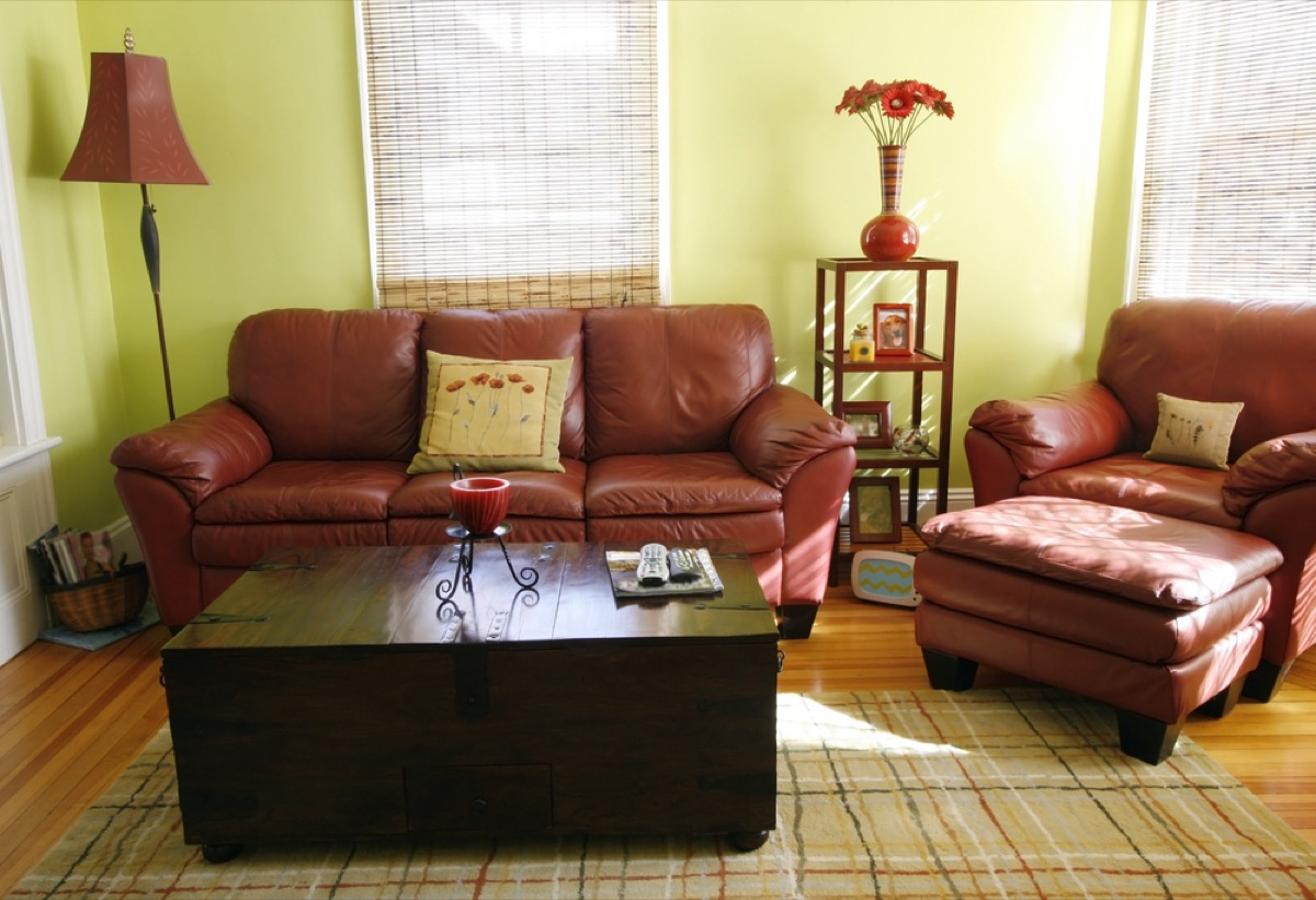 leather couch and chair in living room, interior design mistakes