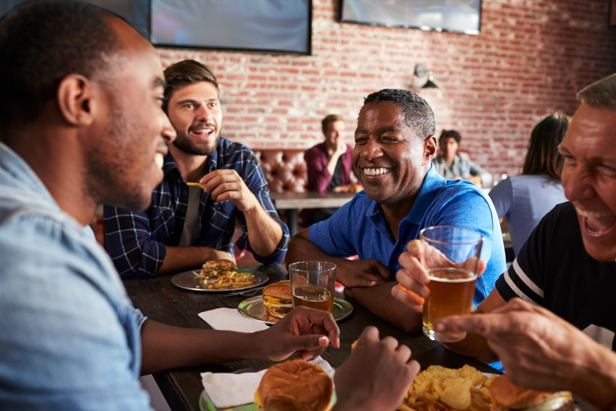 Men Drinking Beers at the Bar