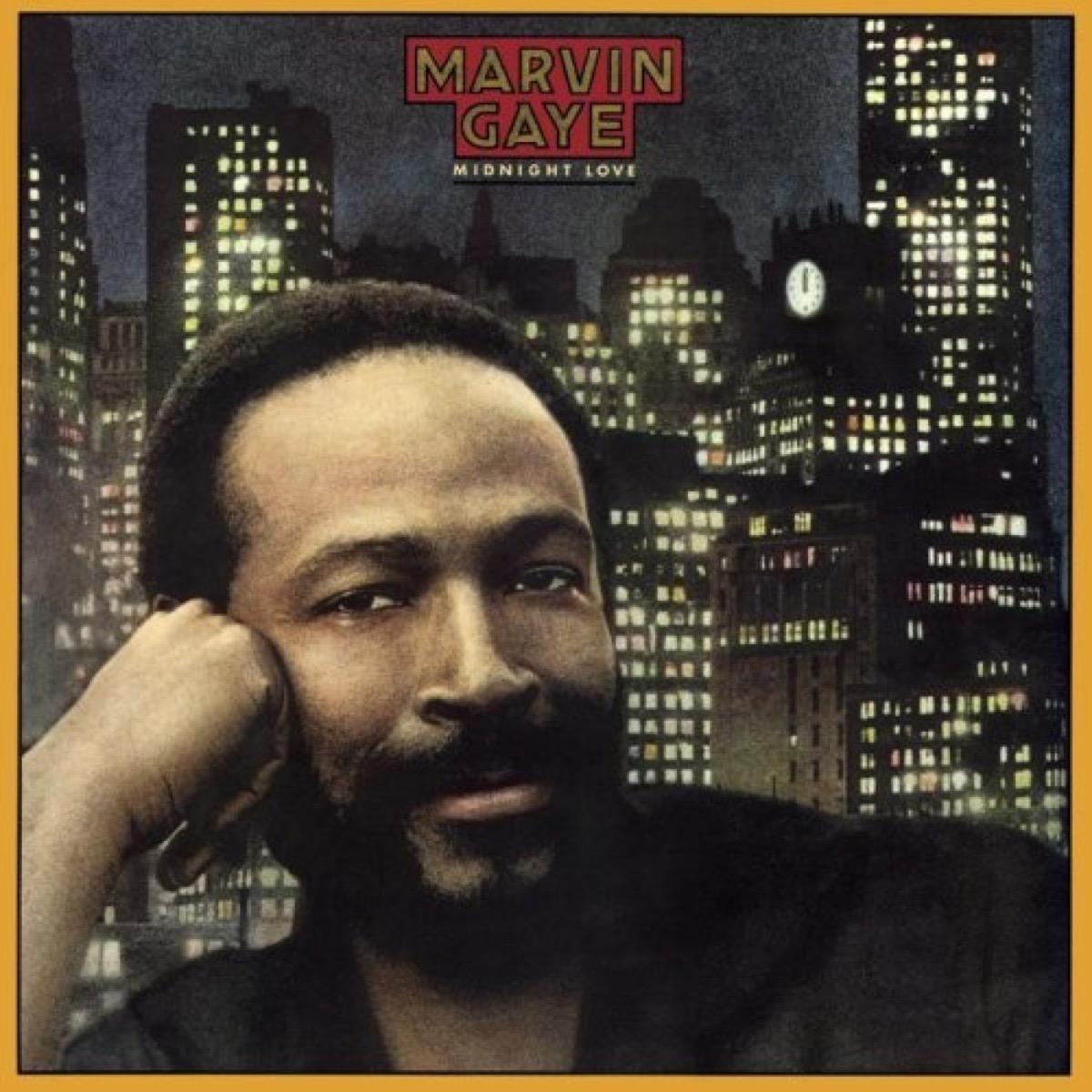 "Marvin Gaye ""Midnight Love"" album cover"