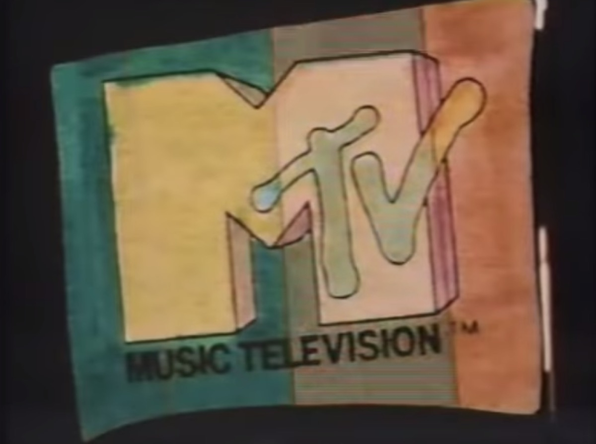 the mtv logo in its 1983 iteration