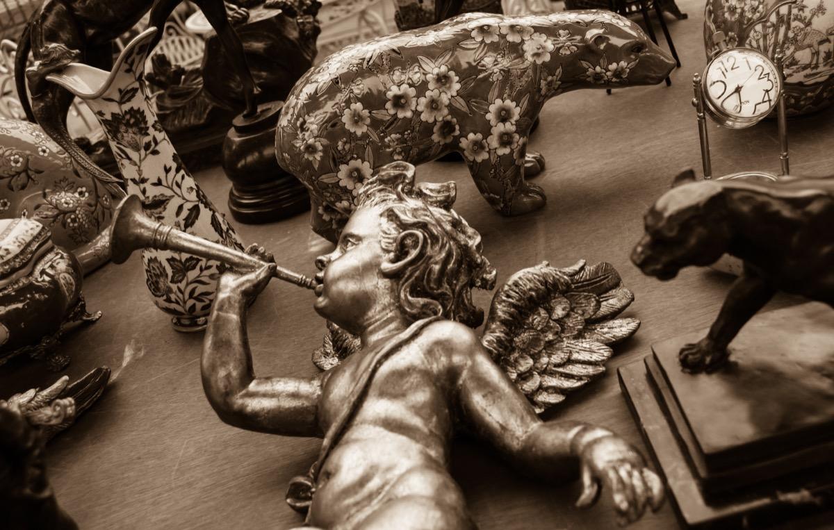 old bronze cherub statue, titanic artifacts