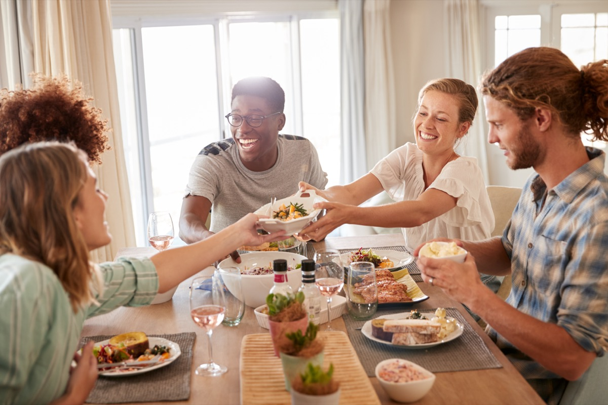 passing dishes at a meal old-fashioned manners