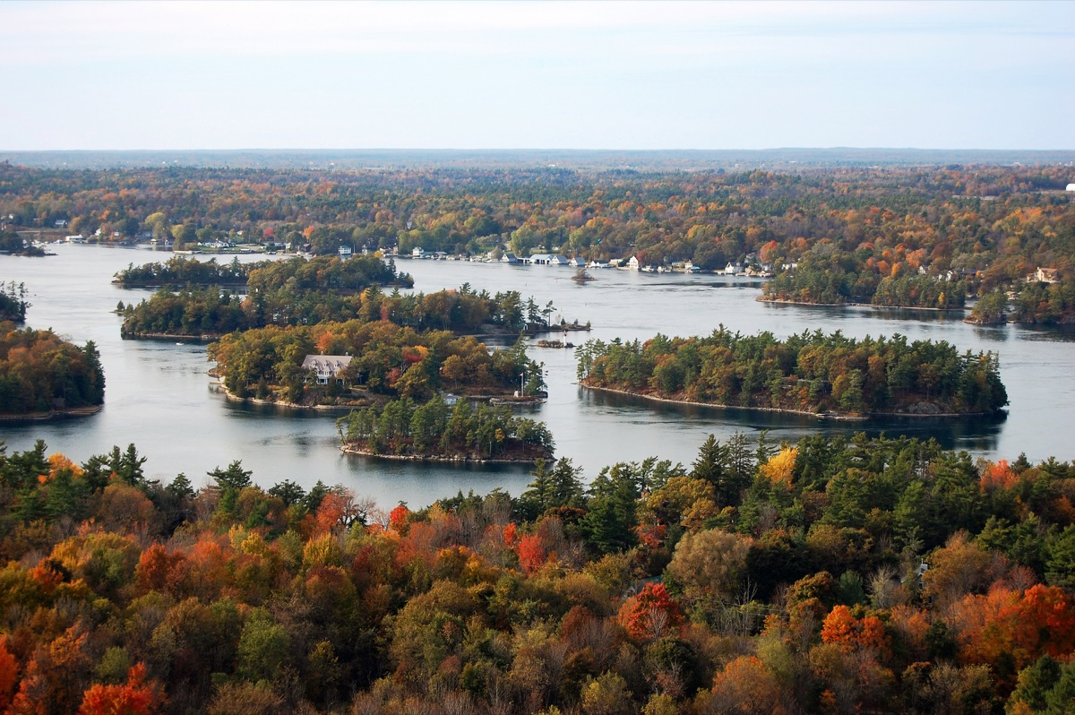 Saint Lawrence River in the fall