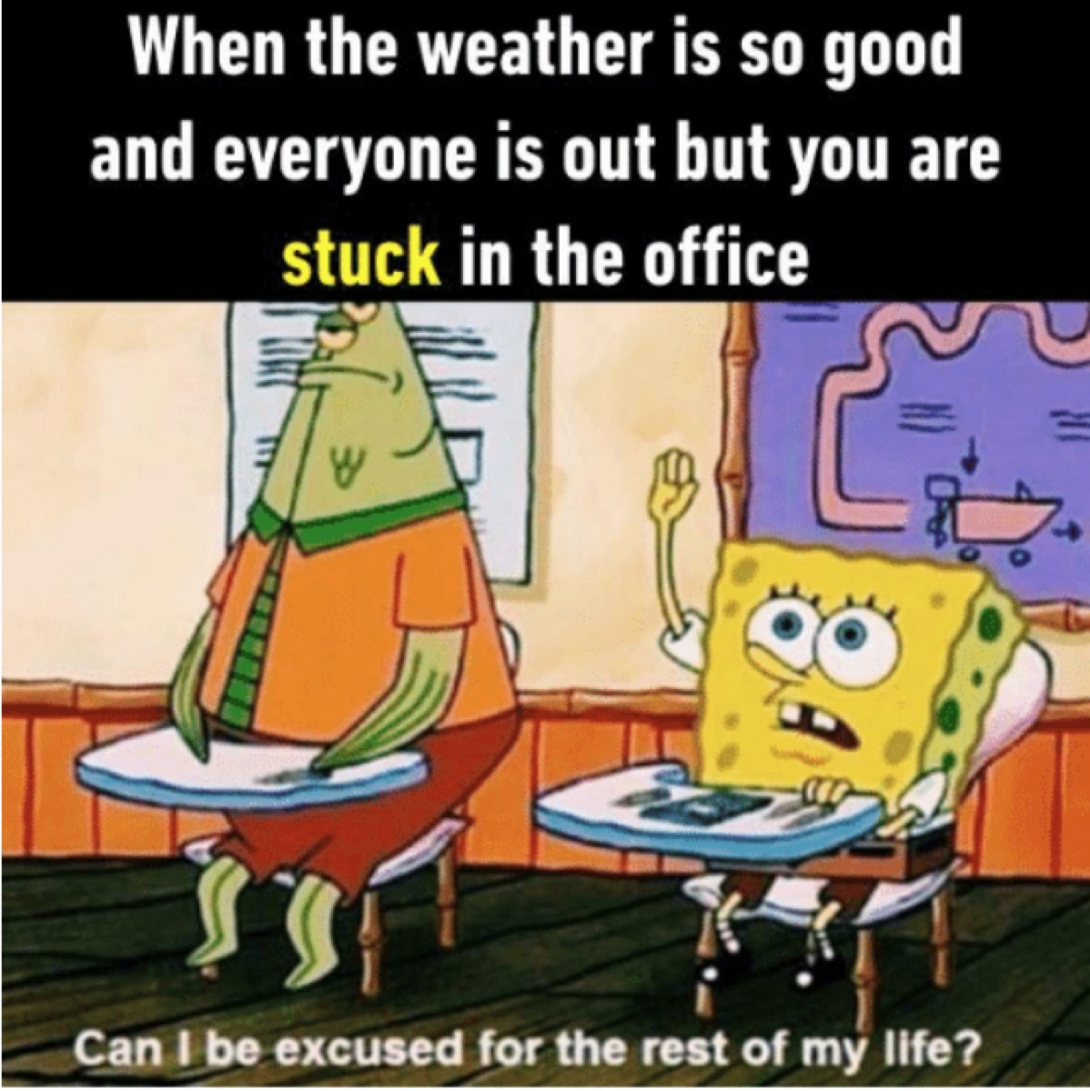 spongebob office meme