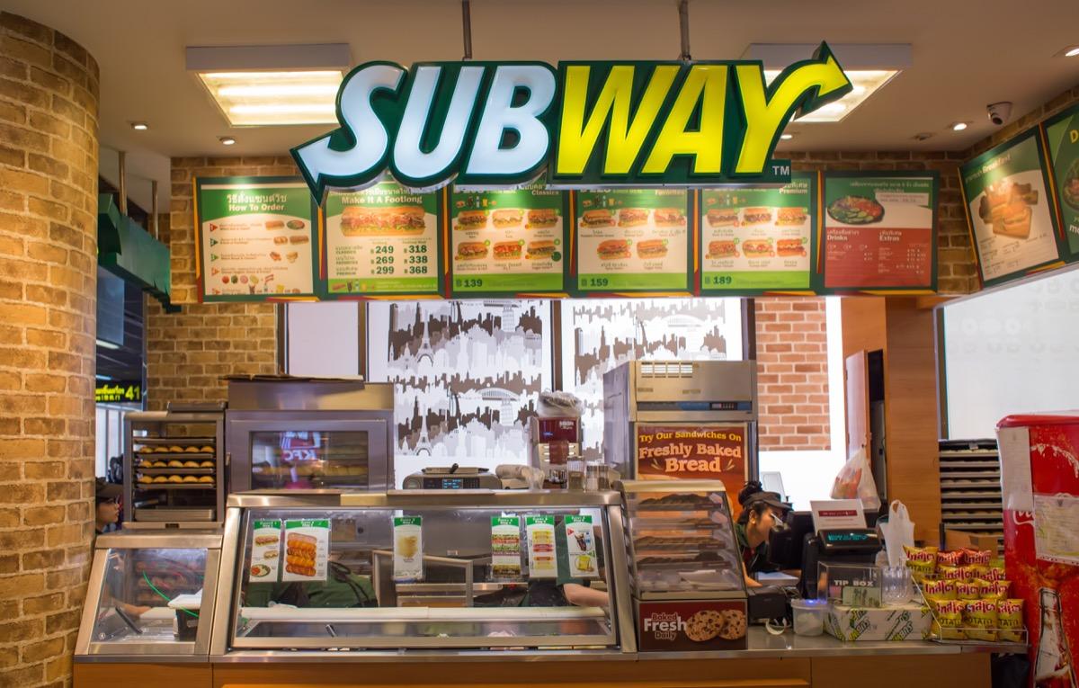 Subway sandwich shop storefront