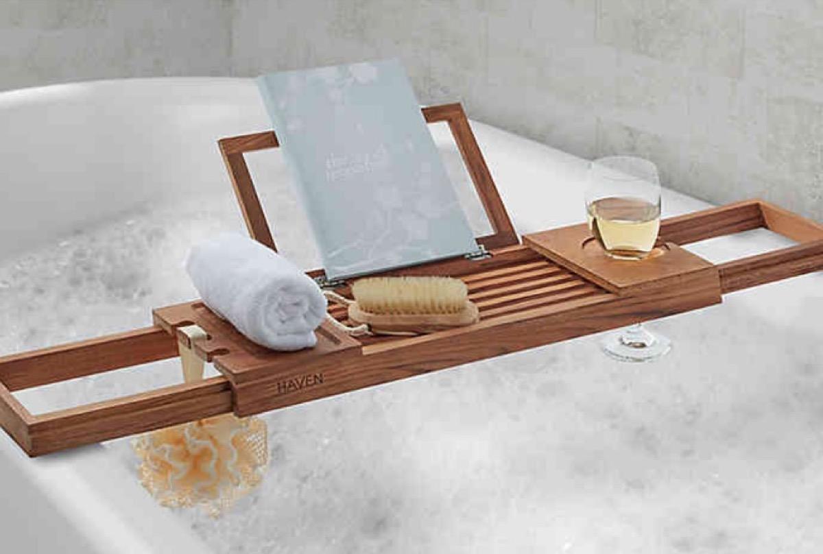 bathtub caddy, relaxation gift