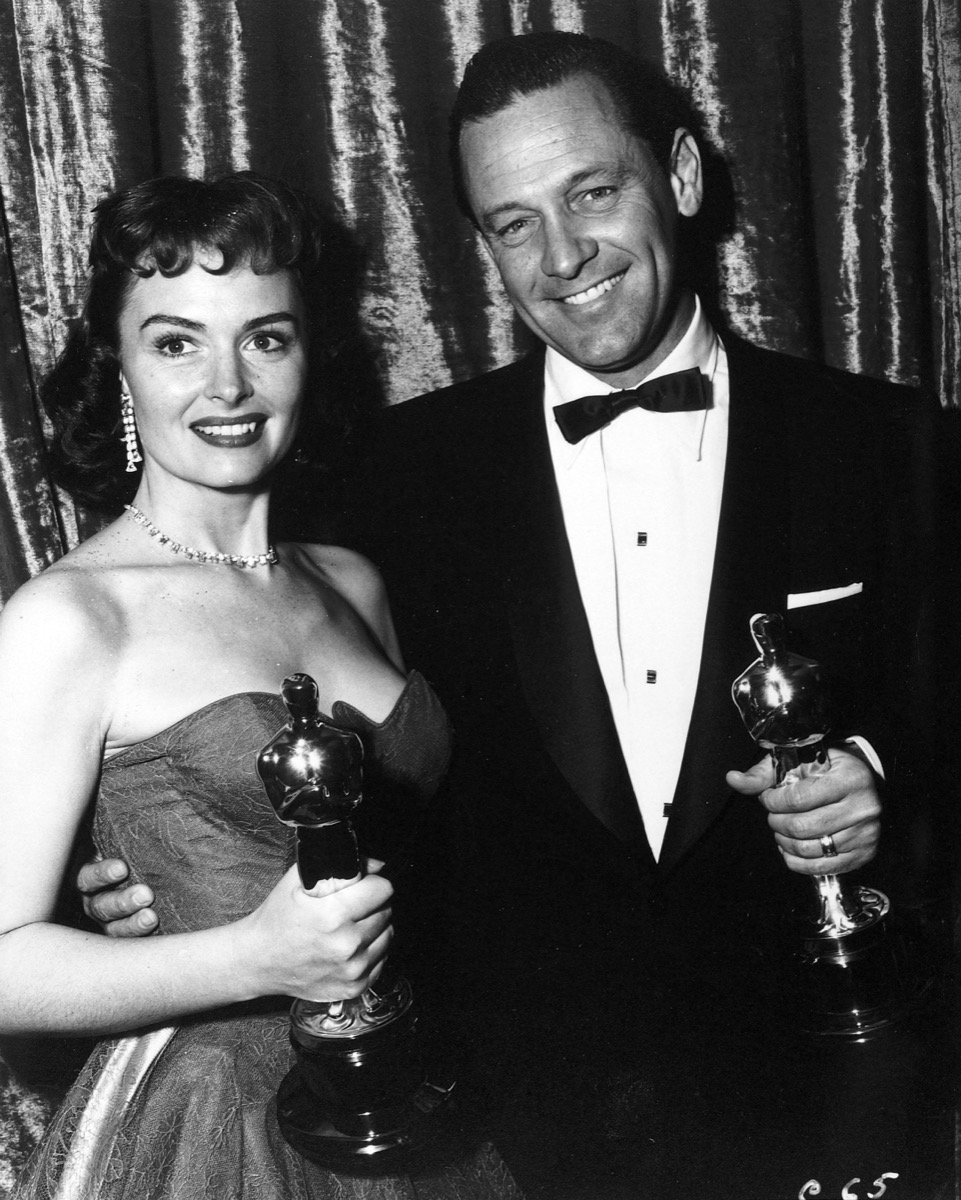 William Holden and Donna Reed with their Oscars
