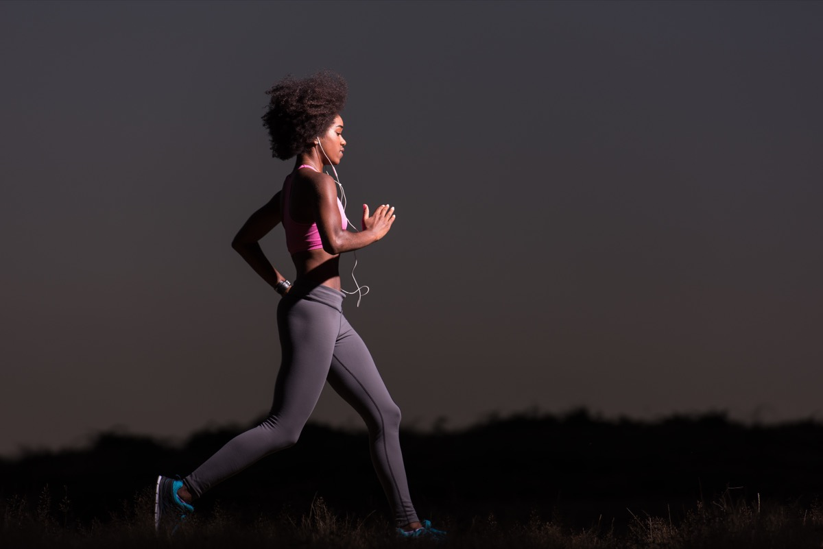 woman exercising at night things you're doing that would horrify sleep doctors