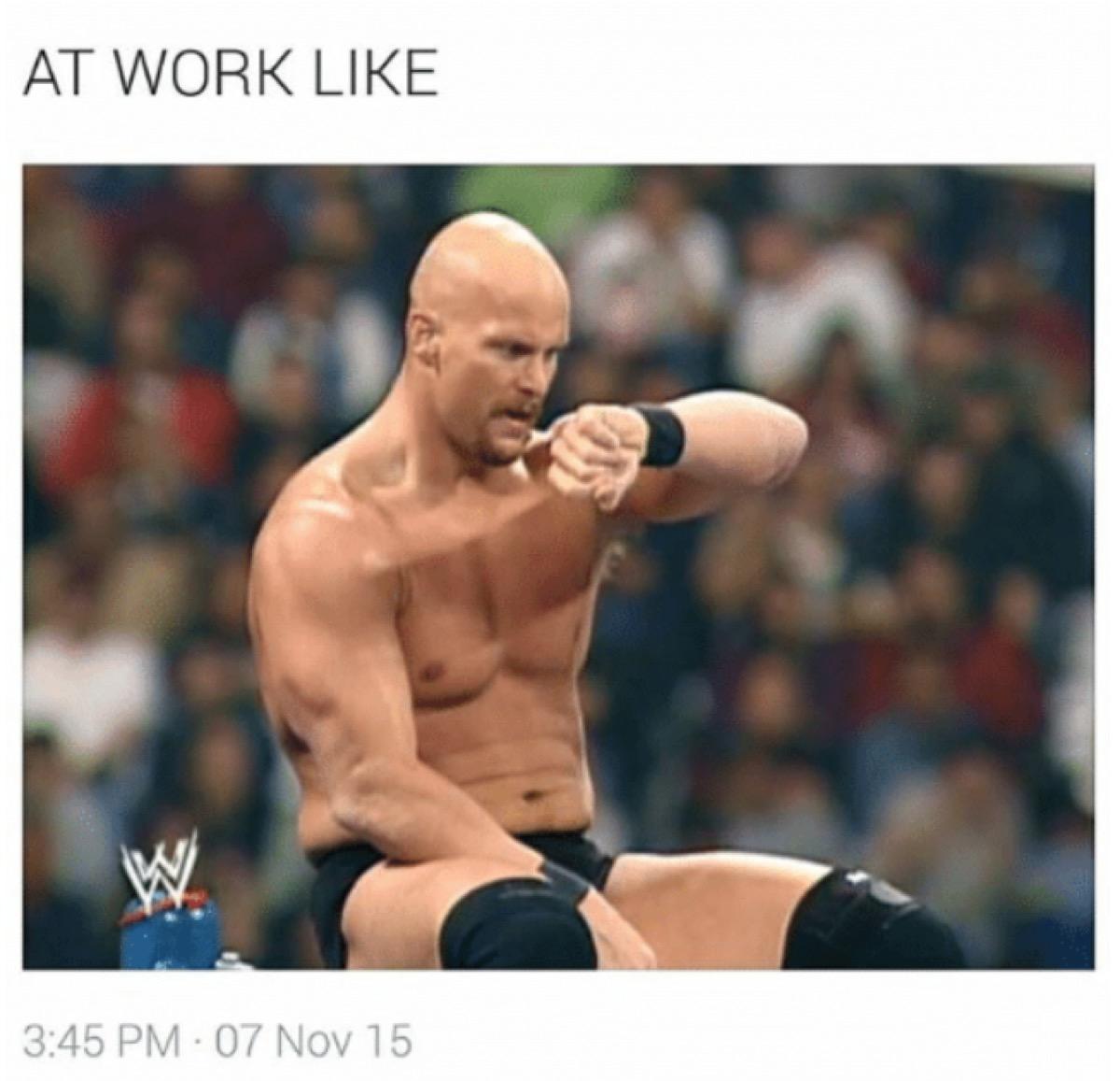 at work like meme