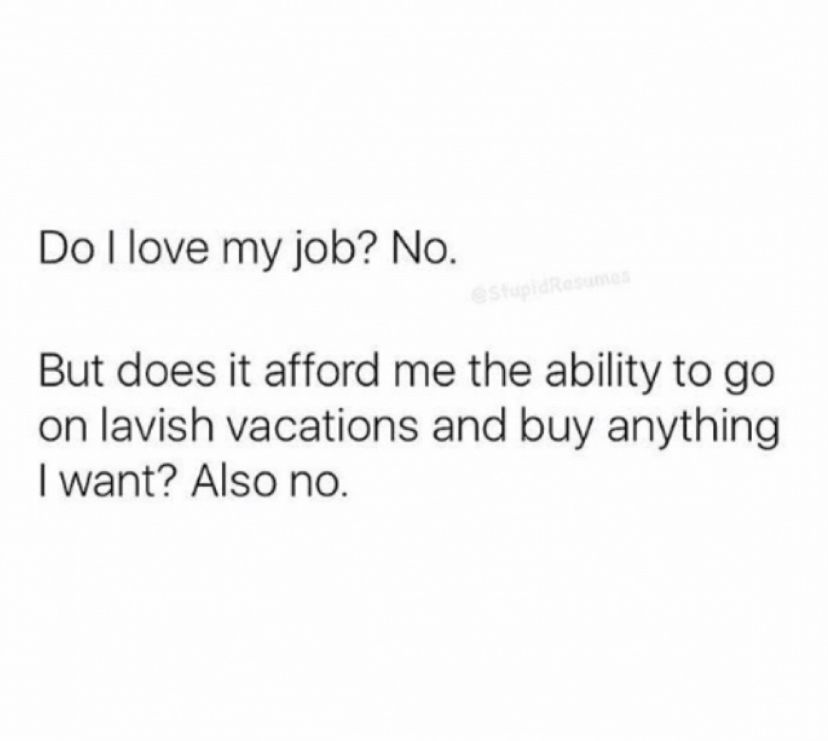 funny work meme about job