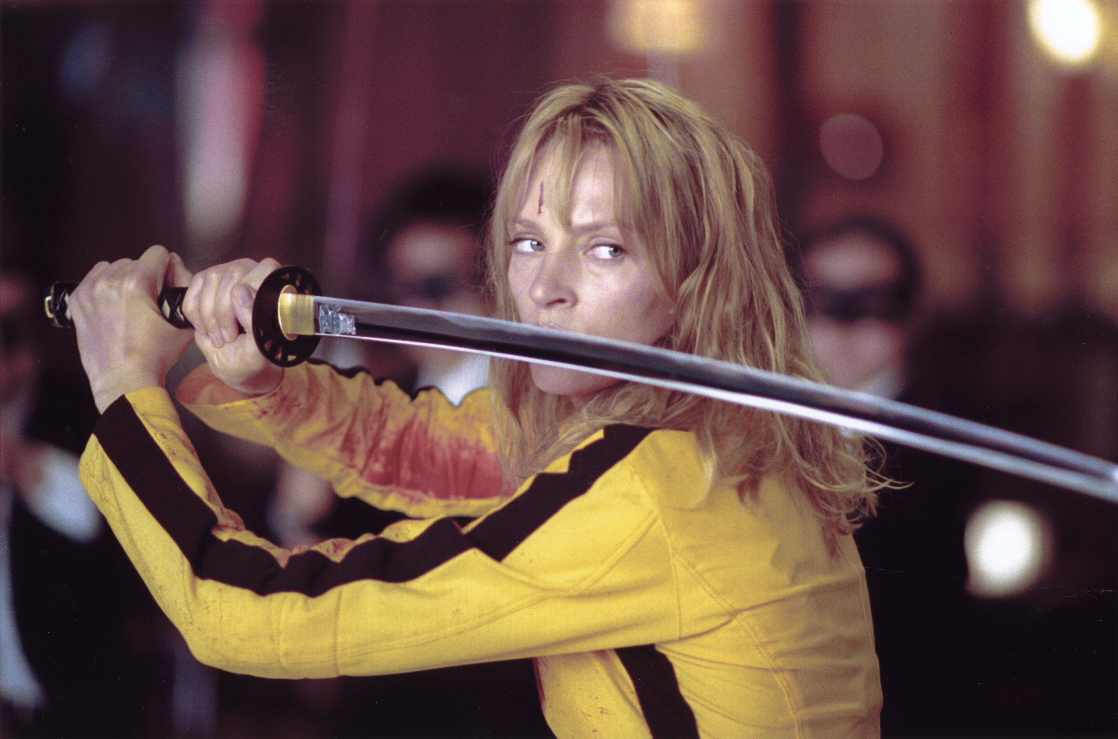 Uma Thurman as The Bride in kill Bill Vol 1, Inspiring Leading Ladies