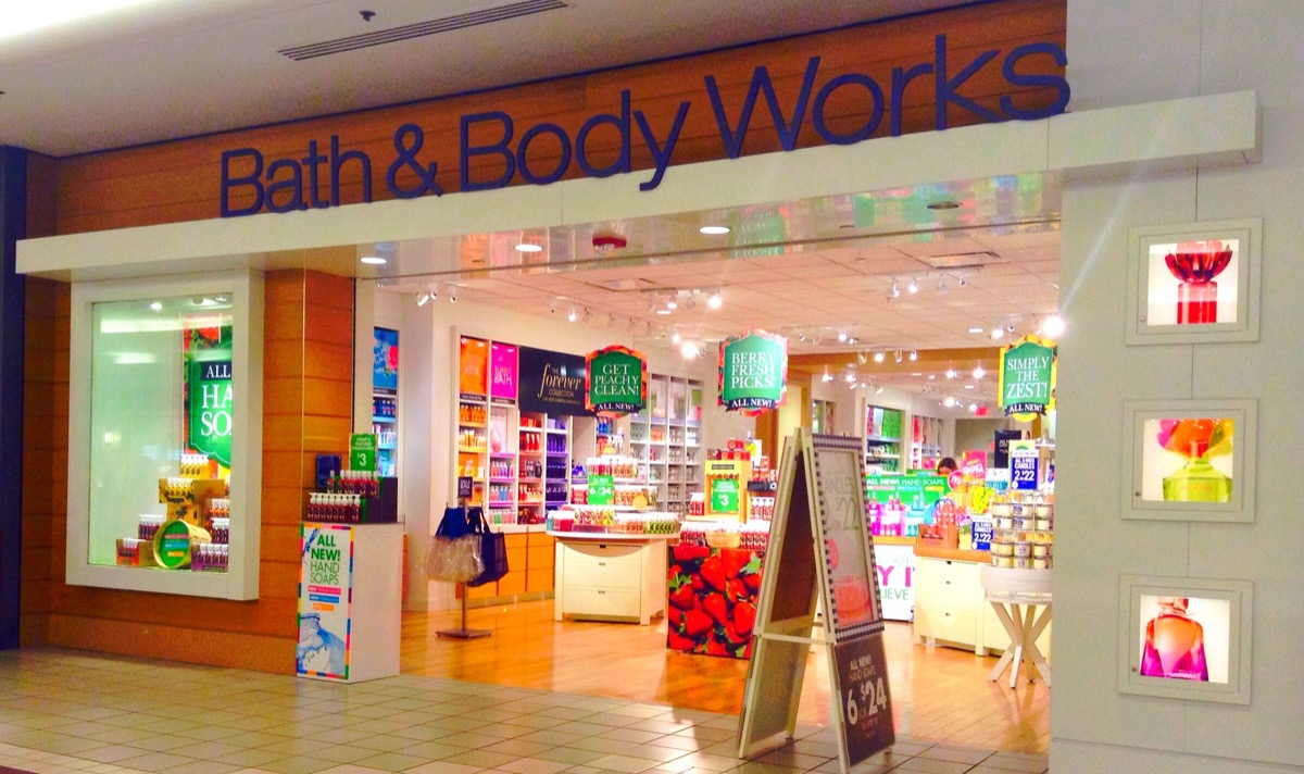 Bath and Body Works store at mall