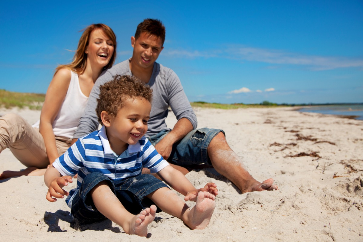 Biracial Family on Beach, things Floridians are tired of hearing