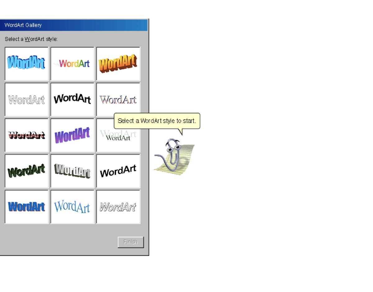 Clippy Microsoft Assistant, 90s things