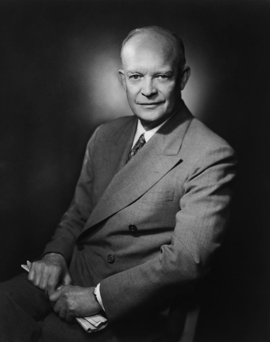 Former President Dwight D. Eisenhower. 1952 portrait