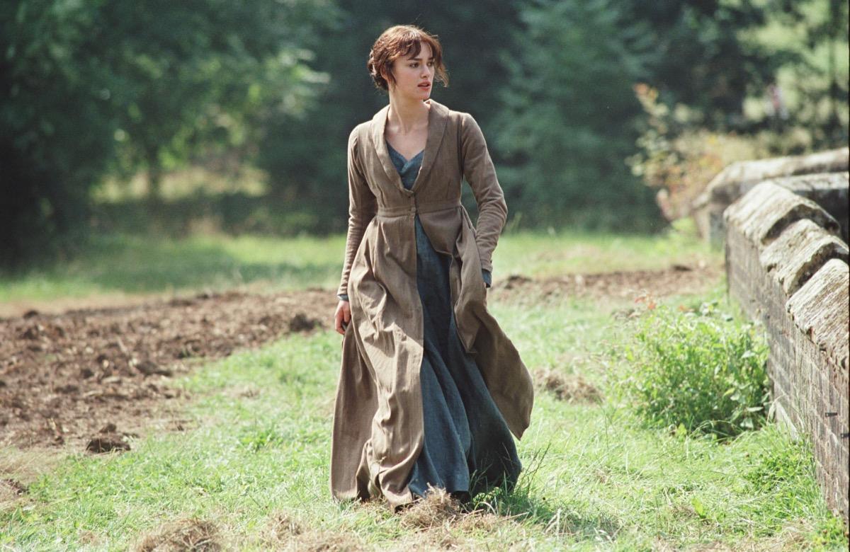 Keria Knightley as Elizabeth Bennet in Pride and Prejudice