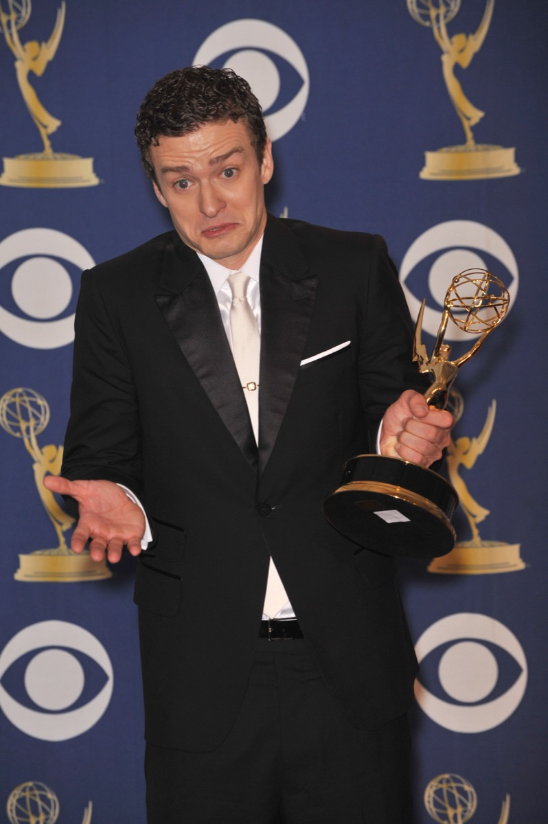 Justin Timberlake at the Emmy Awards