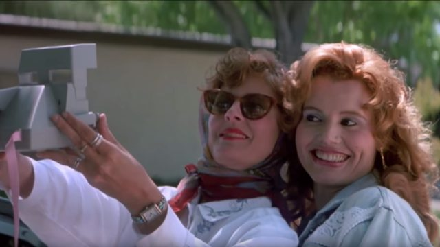 Geena Davis and Susan Saradon as Thelma and Louise in Thelma & Louise