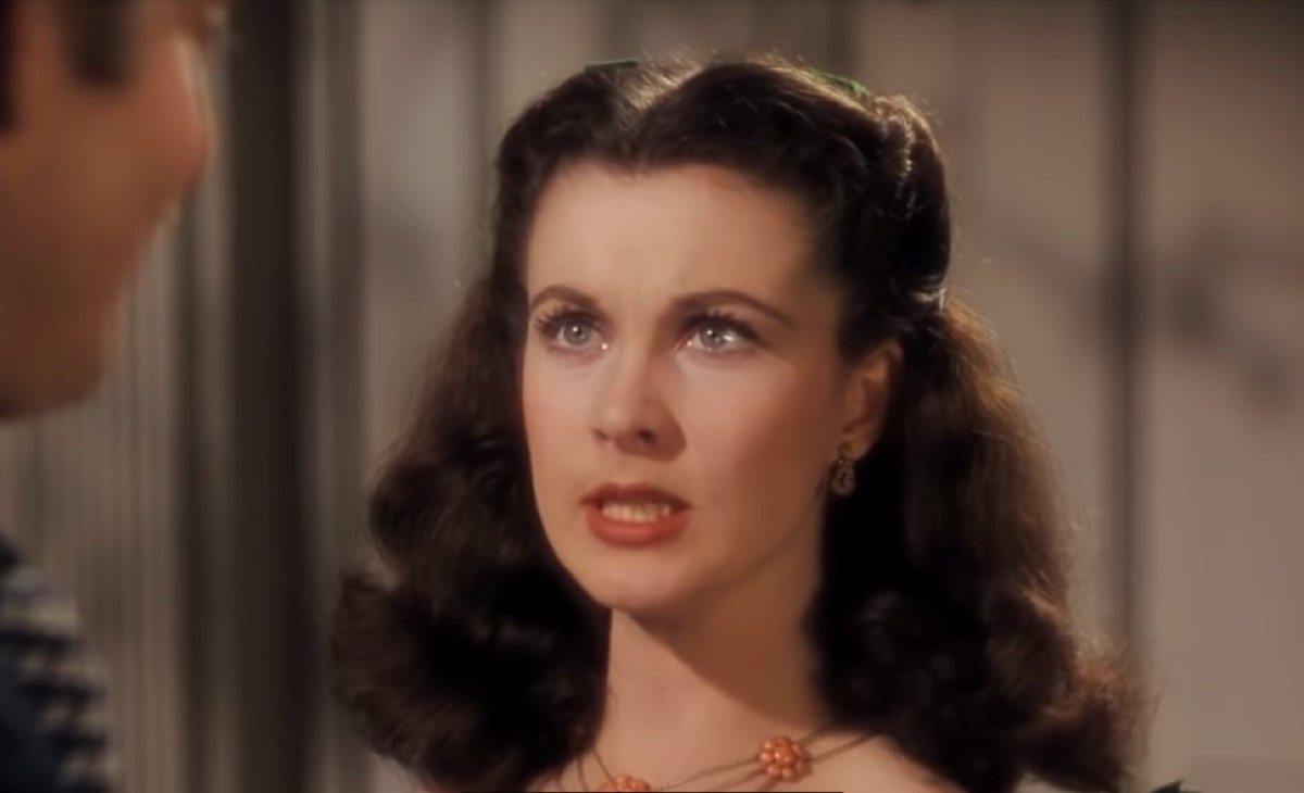 Vivien Leigh as Scarlett O' Hara in Gone with the Wind, inspiring leading ladies in movies