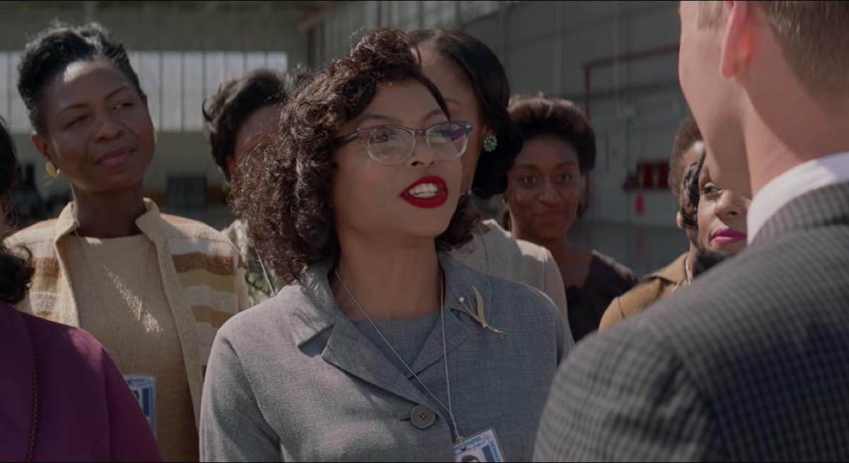 Taraji P. Henson as Katherine Goble in Hidden Figures, inspiring leading ladies in film