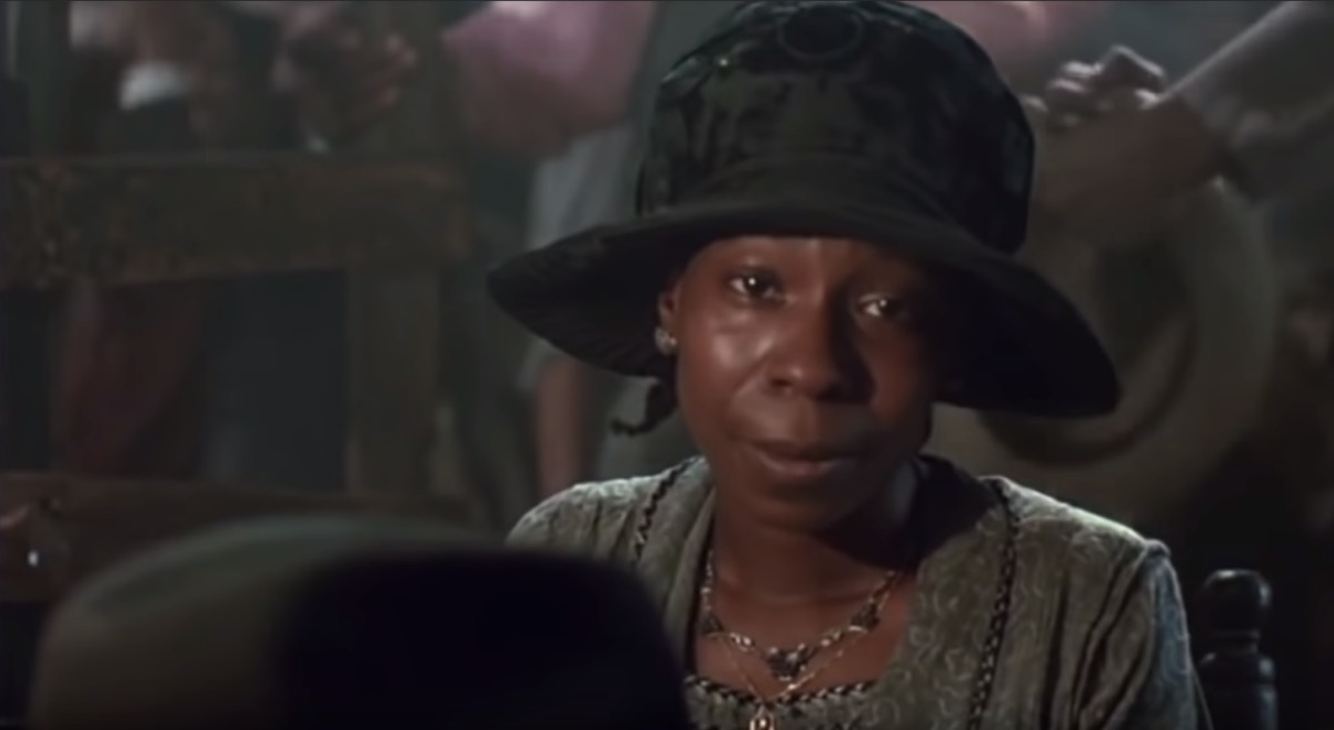 Whoopi Goldberg as Celie in The Color Purple